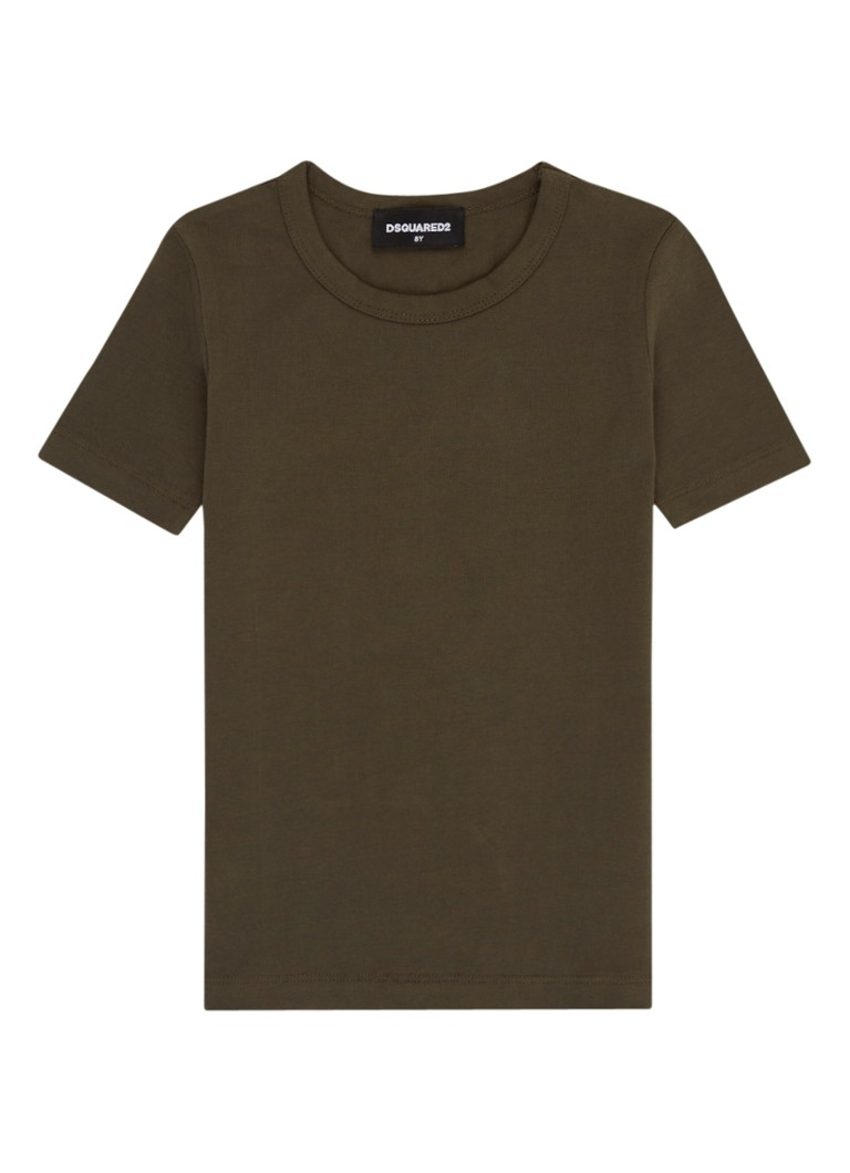 Image of Dsquared2 Basic T-shirt van katoen met ronde hals