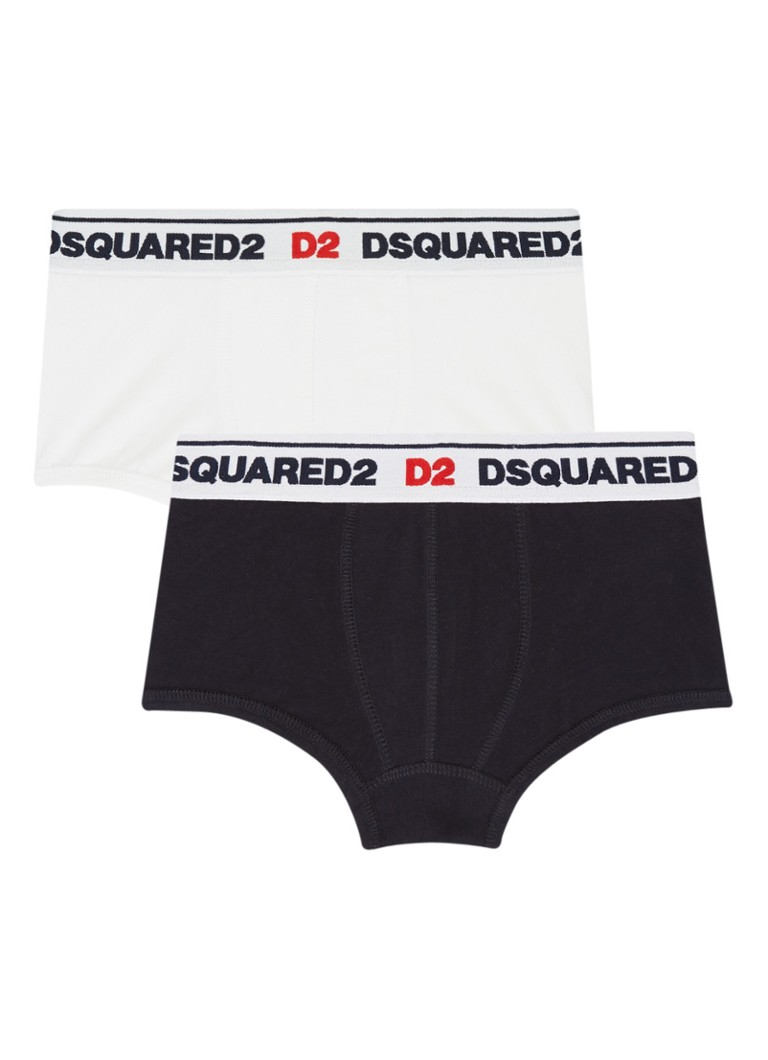 Image of Dsquared2 Boxershorts in uni met logoband in 2-pack