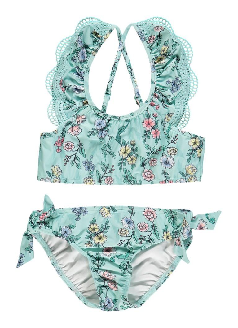 Seafolly Bikini met bloemendessin en kant
