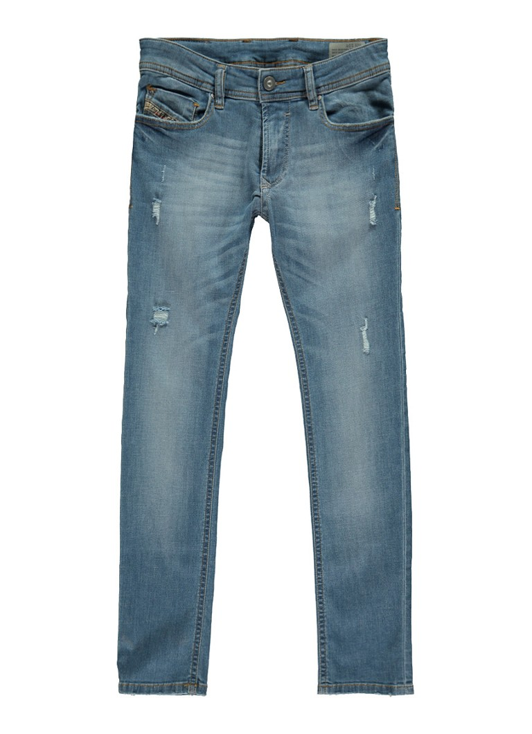 Image of Diesel Sleenker skinny fit jeans met vintage look