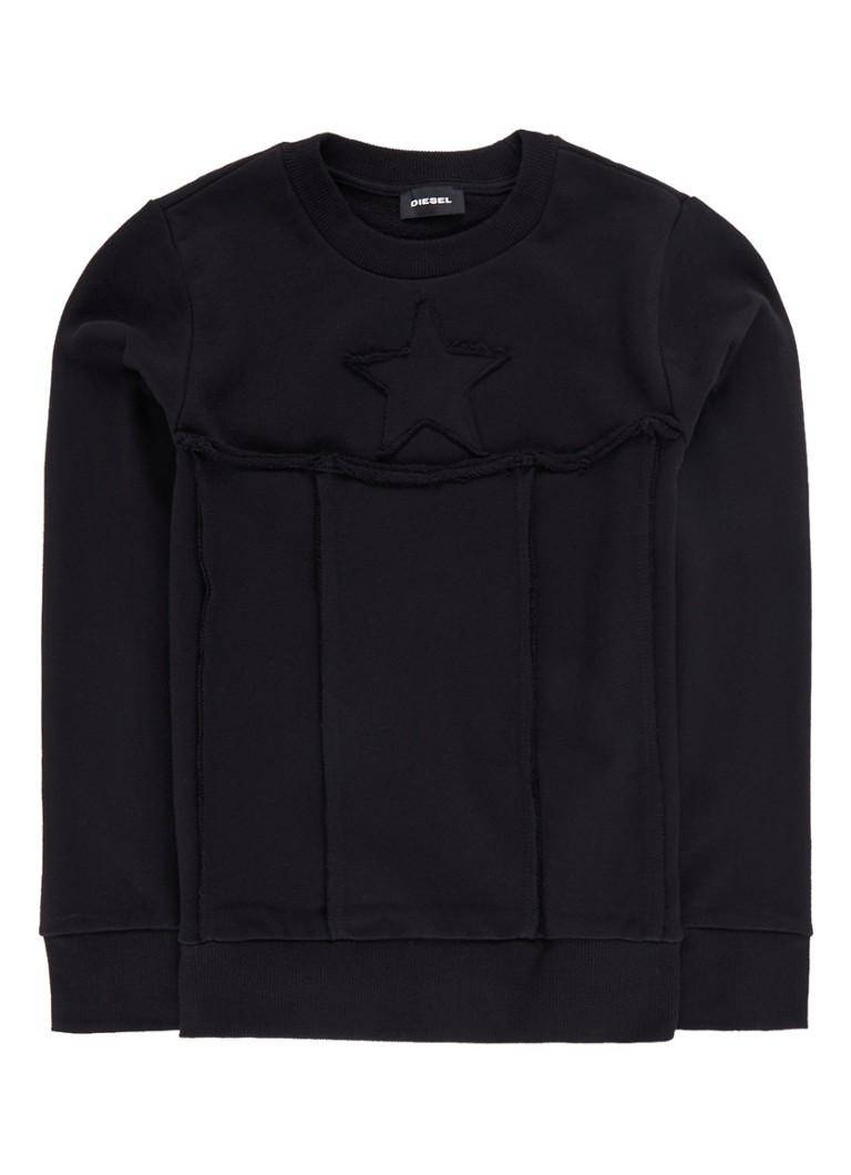 Diesel Shay sweater met sterapplicatie