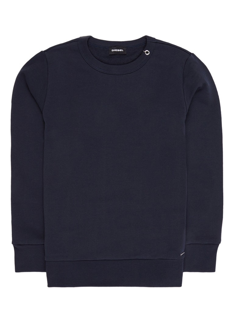 Diesel Sweater van katoen in uni