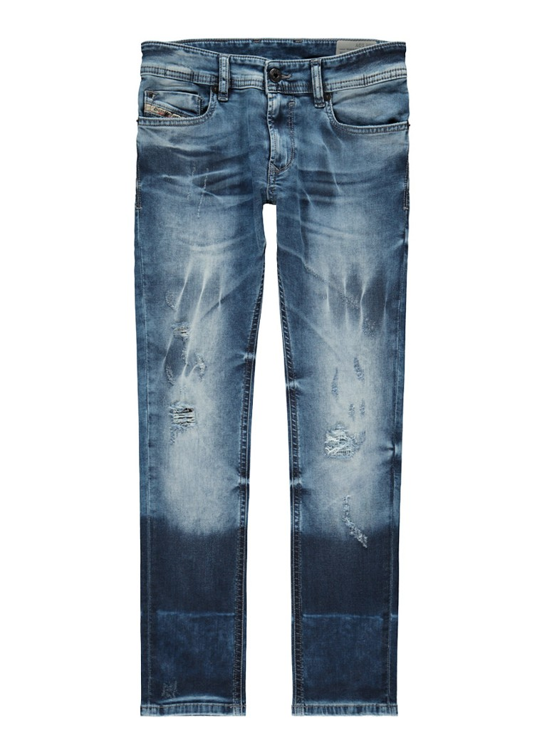 Diesel Sleenker-J skinny fit jeans met destroyed detail