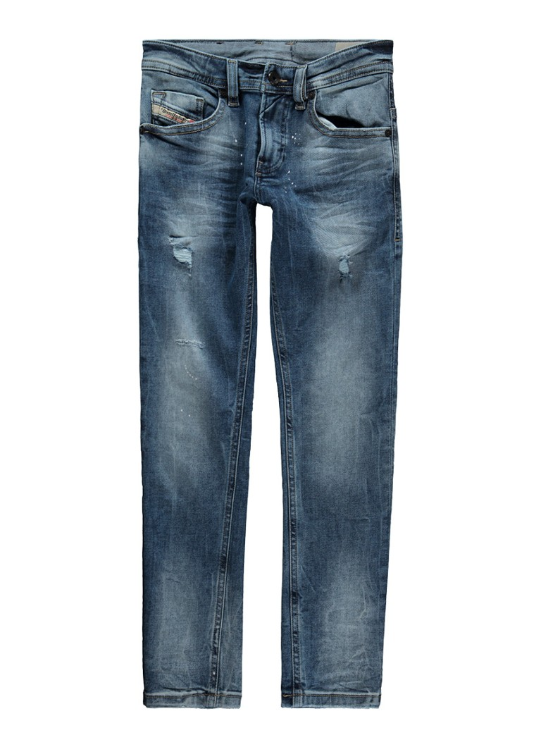 Diesel Thommer-J skinny fit jeans met destroyed detail
