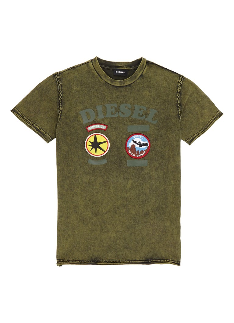 Diesel Tiffor T-shirt met patches