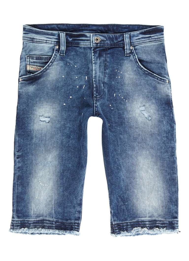 Diesel Prooli-n denim shorts met destroyed detail