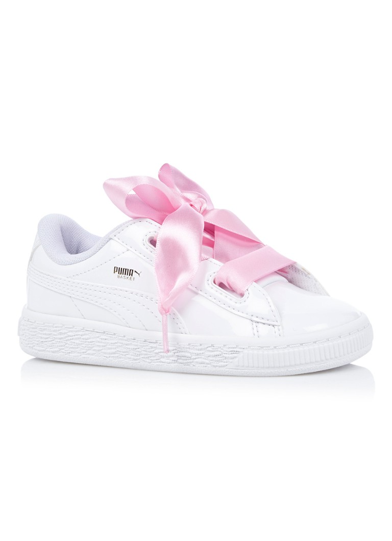 Puma Basket Heart sneaker van lak