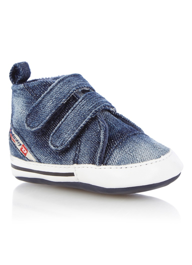 Diesel Babyschoen van denim met klittenband