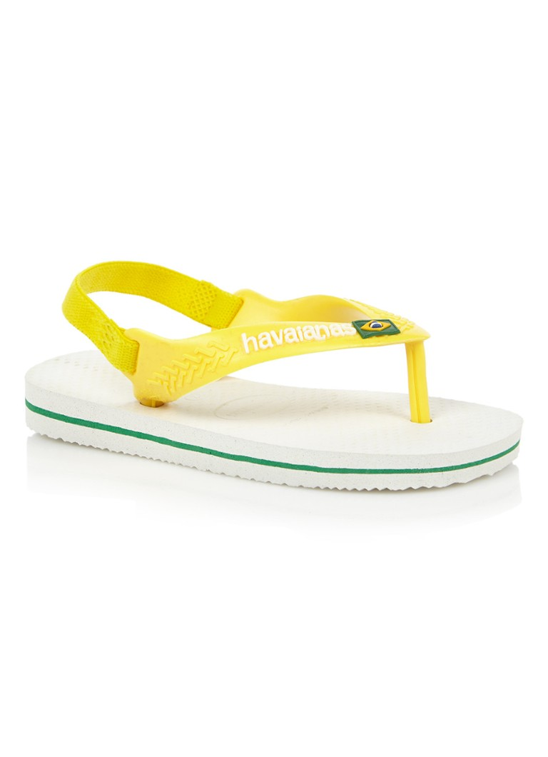 Havaianas Baby Brasil sandaal met Braziliaanse vlag
