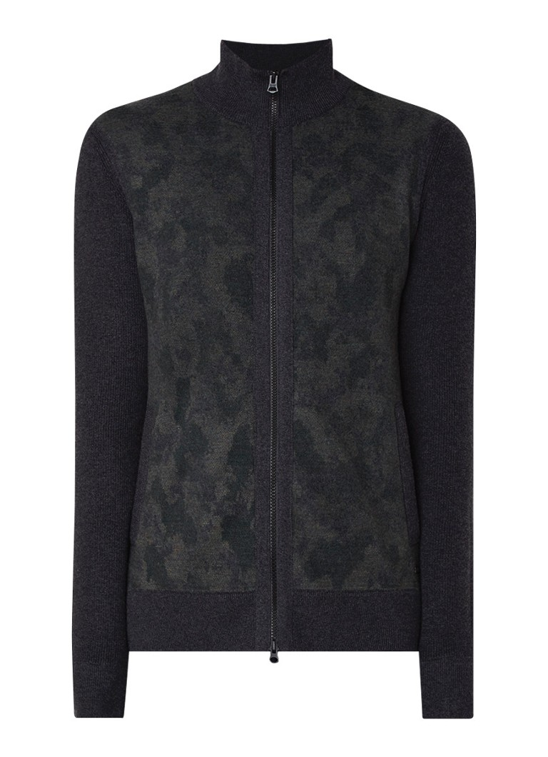 Image of HUGO BOSS Akirbyd fijngebreid vest in wolblend