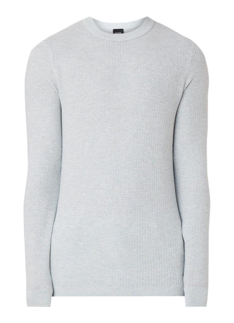 HUGO BOSS Amassy fijngebreide pullover in zijdeblend
