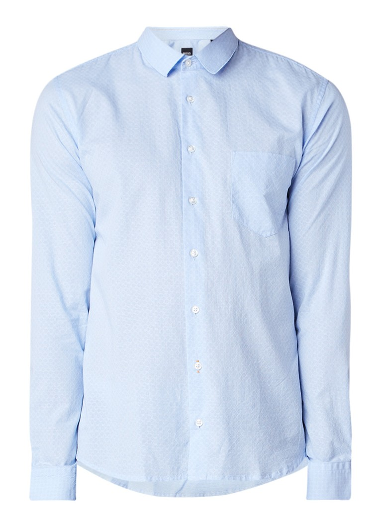 HUGO BOSS Epop slim fit overhemd van katoen