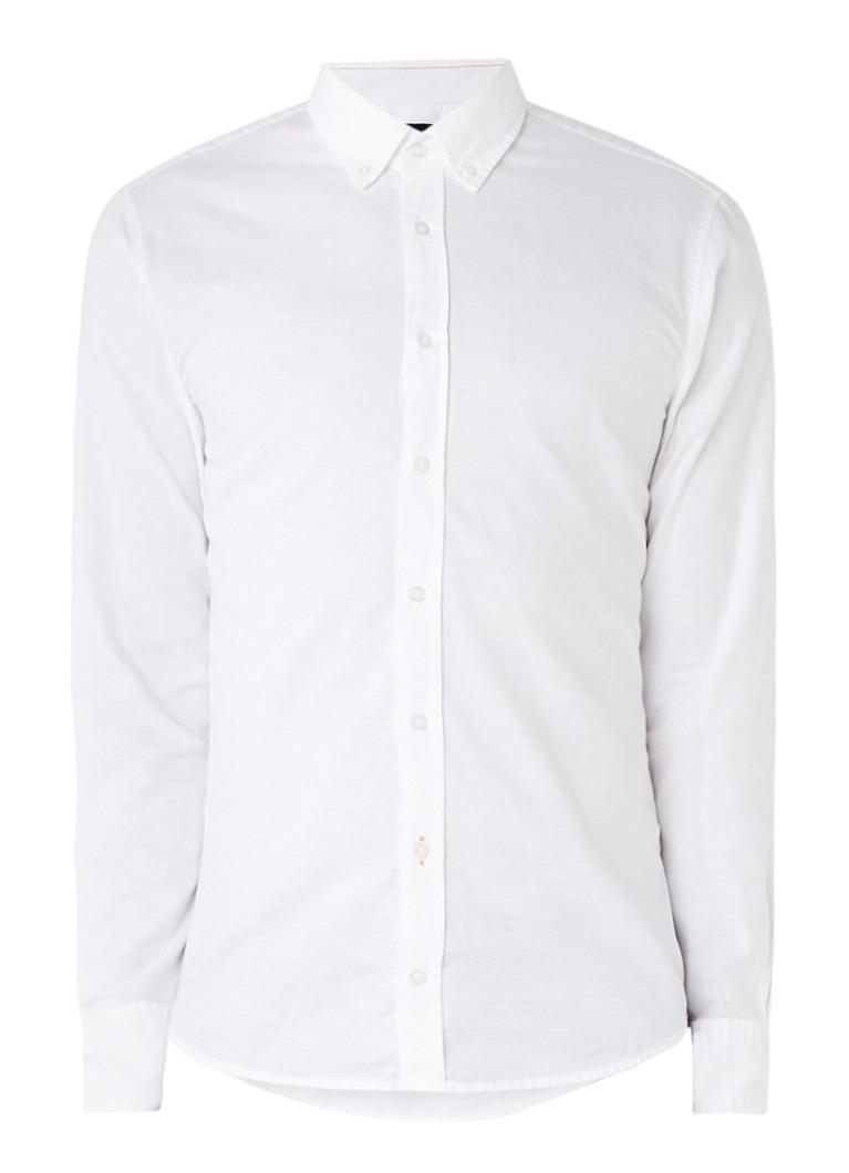 HUGO BOSS Epreppy 1 slim fit overhemd met button down