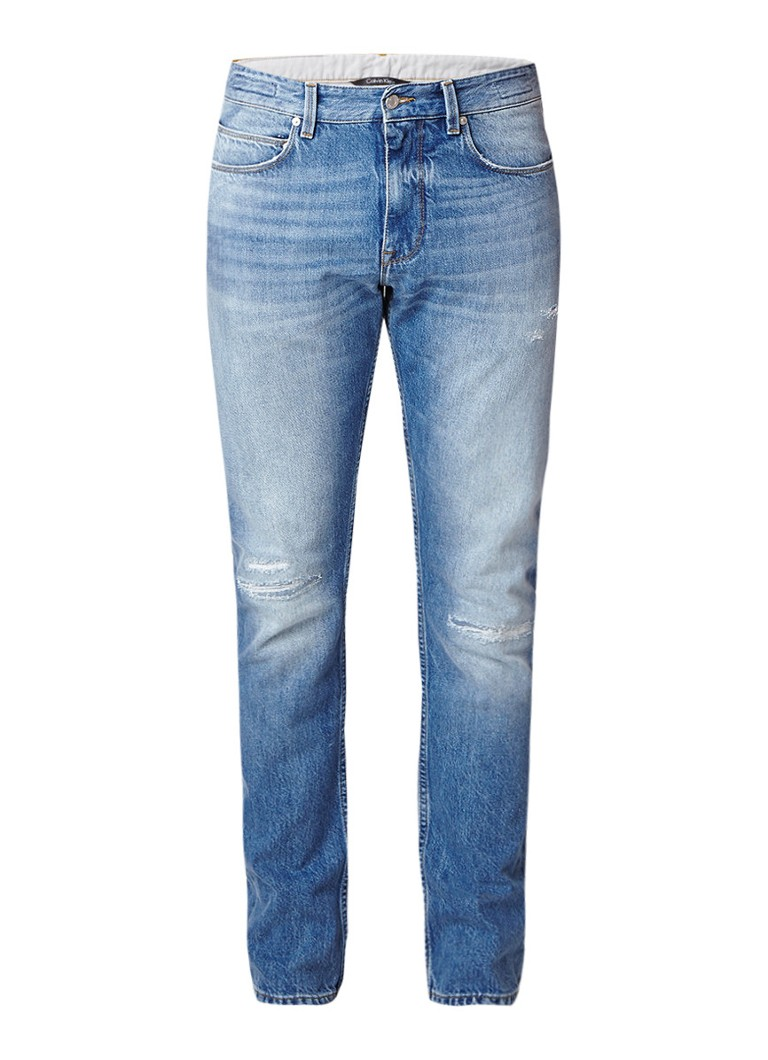 Calvin Klein Straight fit jeans van premium denim