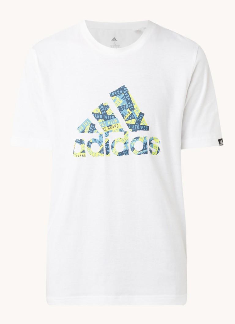 3 Stripes trainings T shirt met logoprint