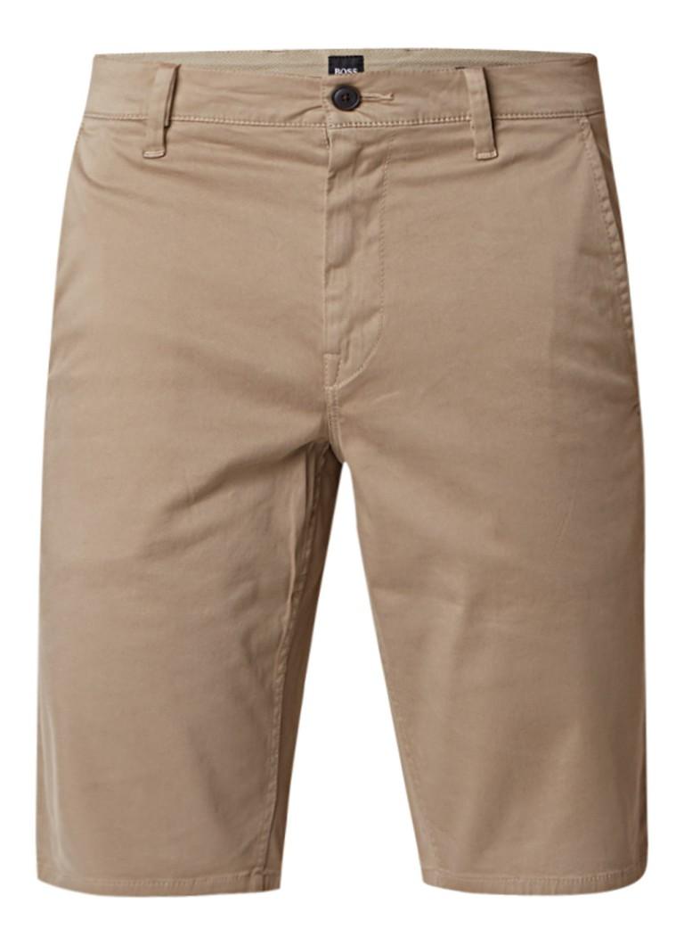 HUGO BOSS Schino slim fit chino shorts van stretchkatoen