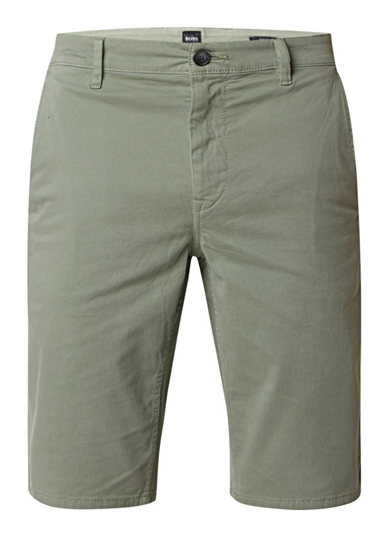 HUGO BOSS Schino slim fit shorts van stretchkatoen
