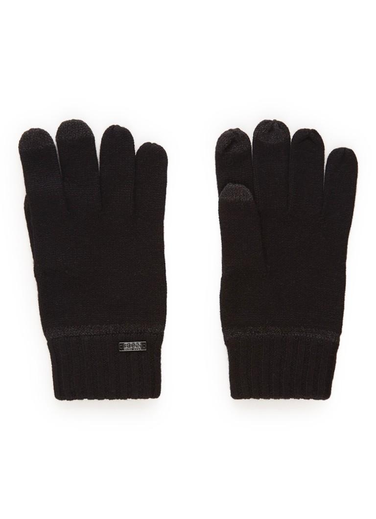HUGO BOSS Gritz handschoenen in wolblend