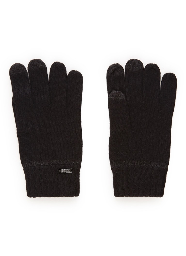 Image of HUGO BOSS Gritz handschoenen in wolblend