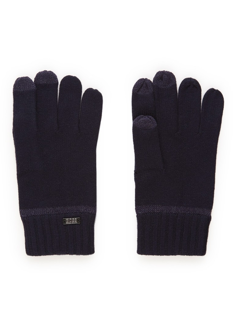 Image of HUGO BOSS Gritz Tech handschoen in wolblend