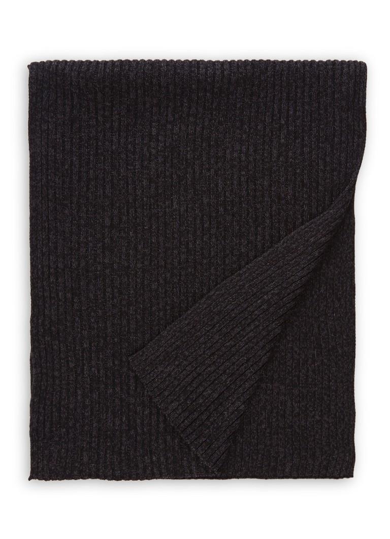 HUGO BOSS Ariffeno fijngebreide sjaal in wolblend 170 x 40 cm