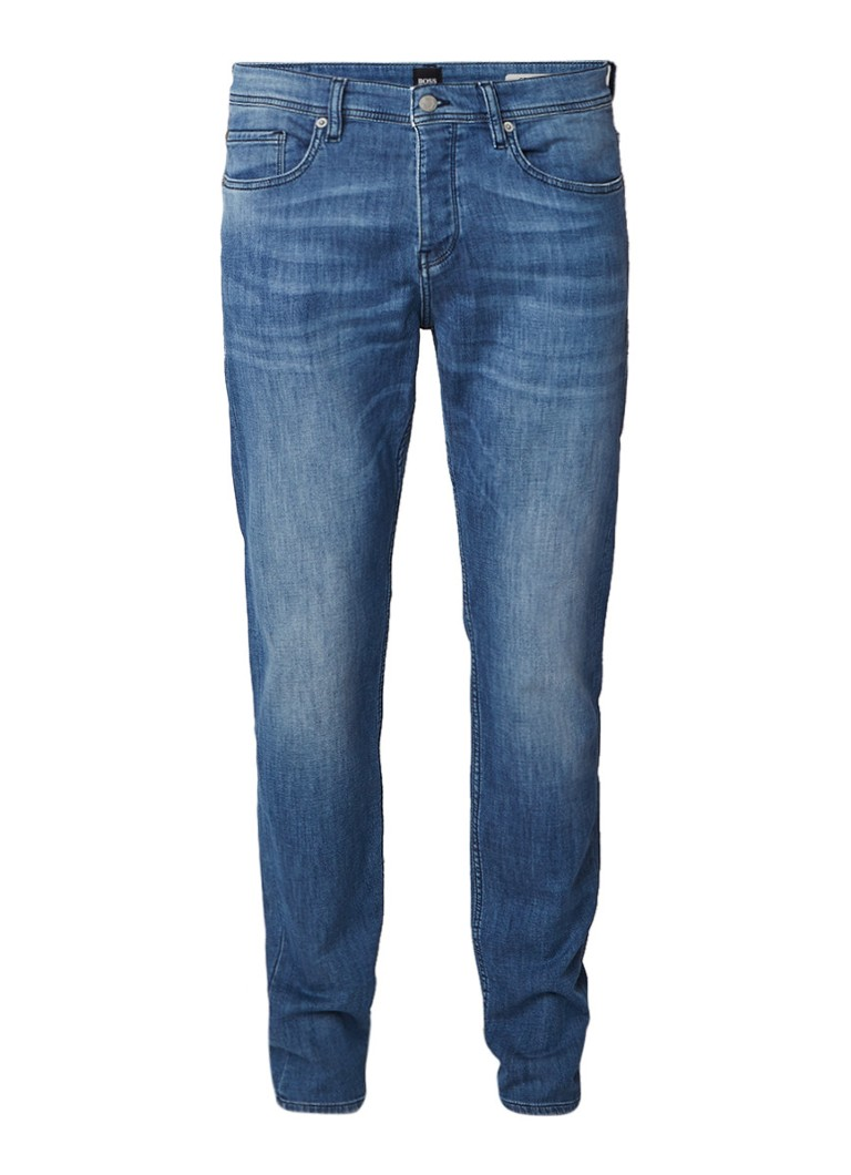 HUGO BOSS Orange90-P tapered fit jeans in faded look