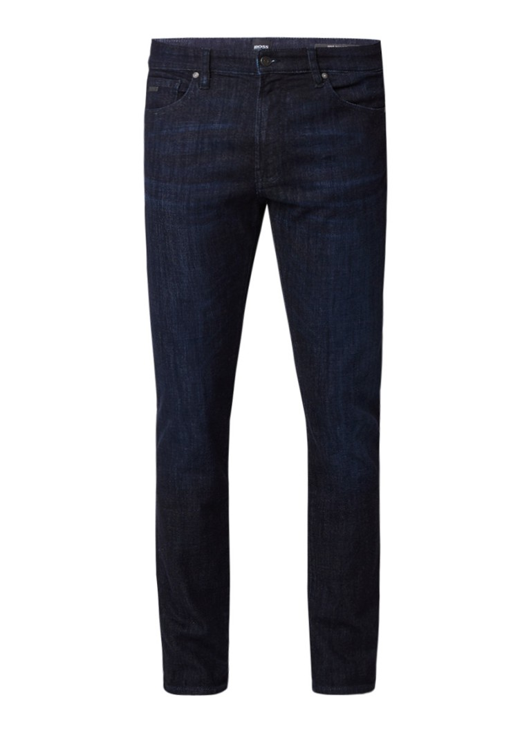 Hugo Boss Maine Regular fit jeans in donkere wassing