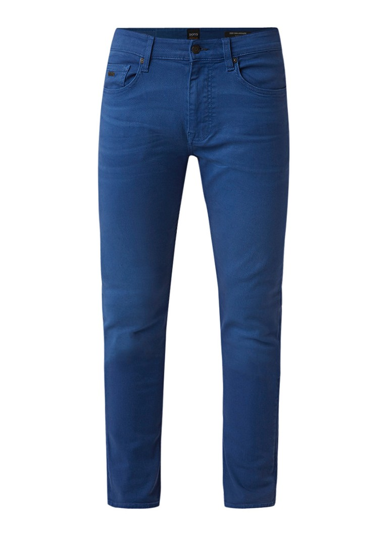 HUGO BOSS Delaware slim fit 5-pocket jeans met stretch