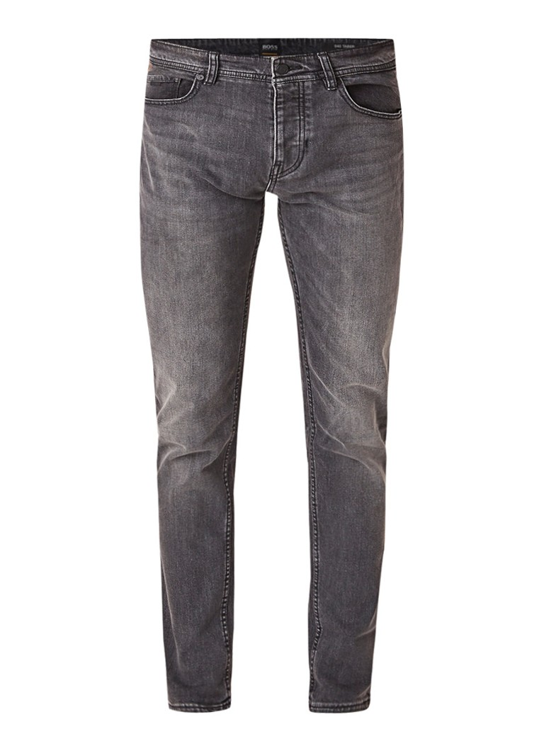 HUGO BOSS Taber faded tapered fit jeans met stretch