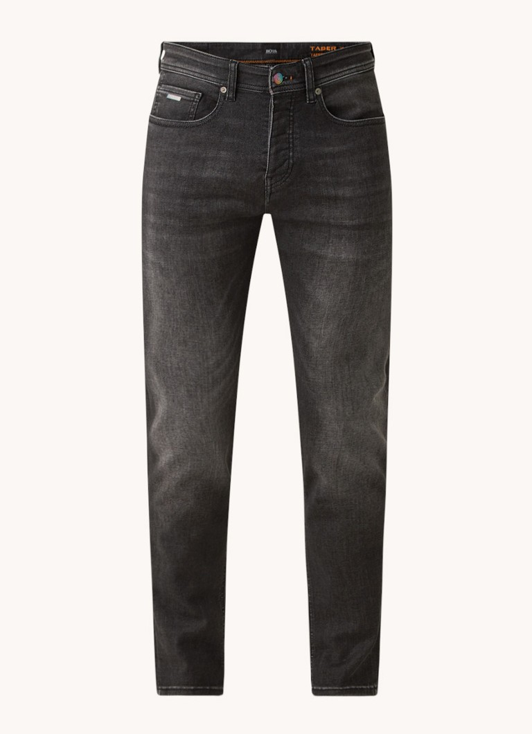 Boss Taber tapered fit jeans met stretch
