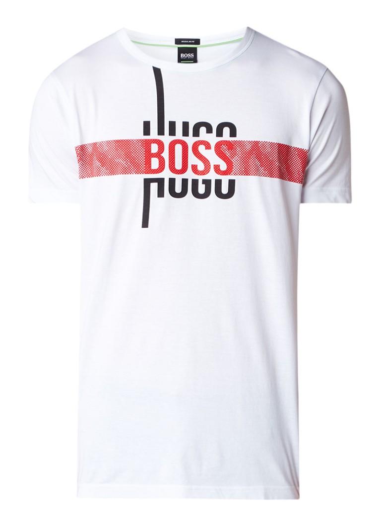 HUGO BOSS T-shirt met ronde hals en logoprint