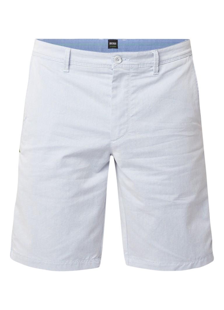 HUGO BOSS Liem4-7 slim fit chino shorts van stretchkatoen