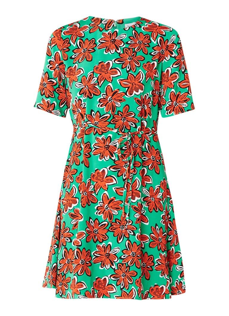 Warehouse A-lijn jurk met bloemenprint groen