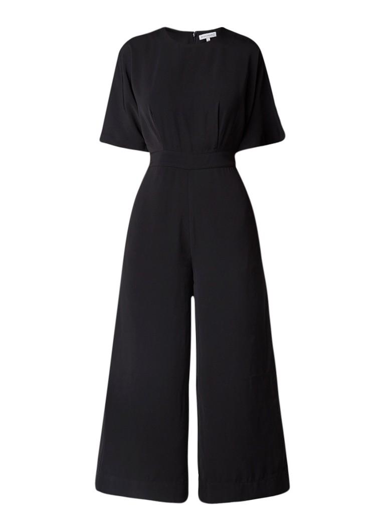 Warehouse Wide fit jumpsuit met elastische tailleband