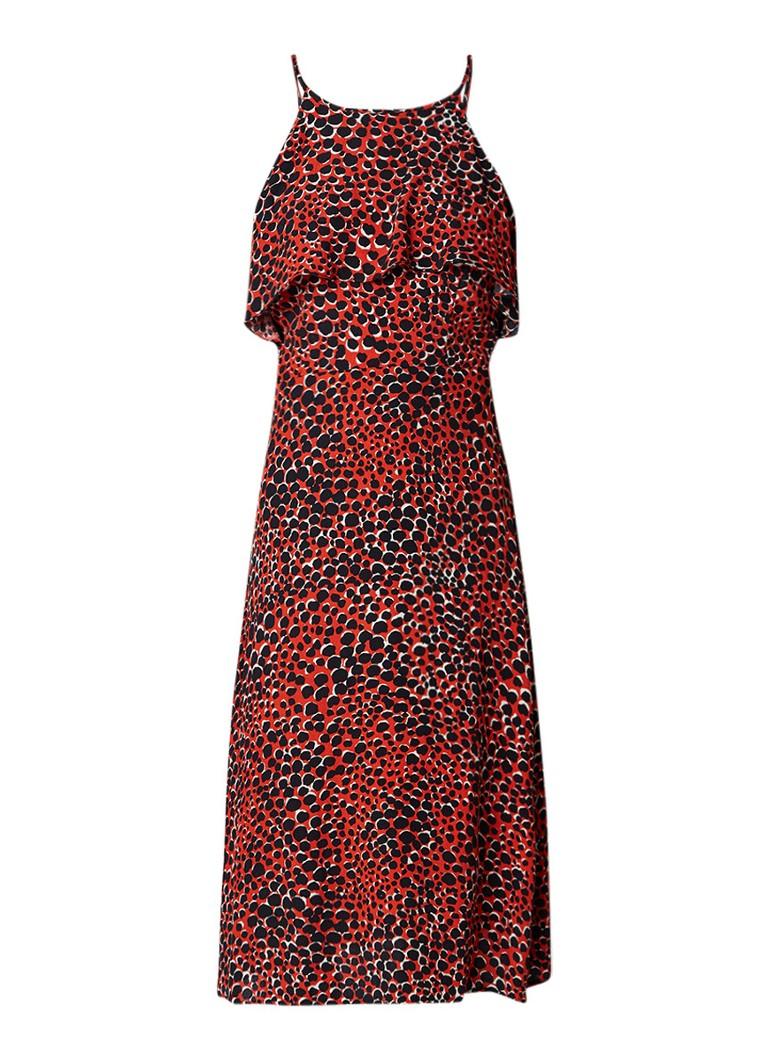 Warehouse Maxi-jurk met luipaarddessin rood