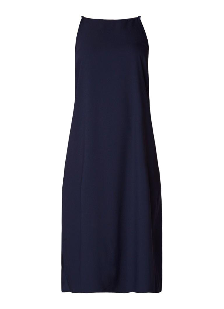 Warehouse Cami jurk met zijsplit donkerblauw