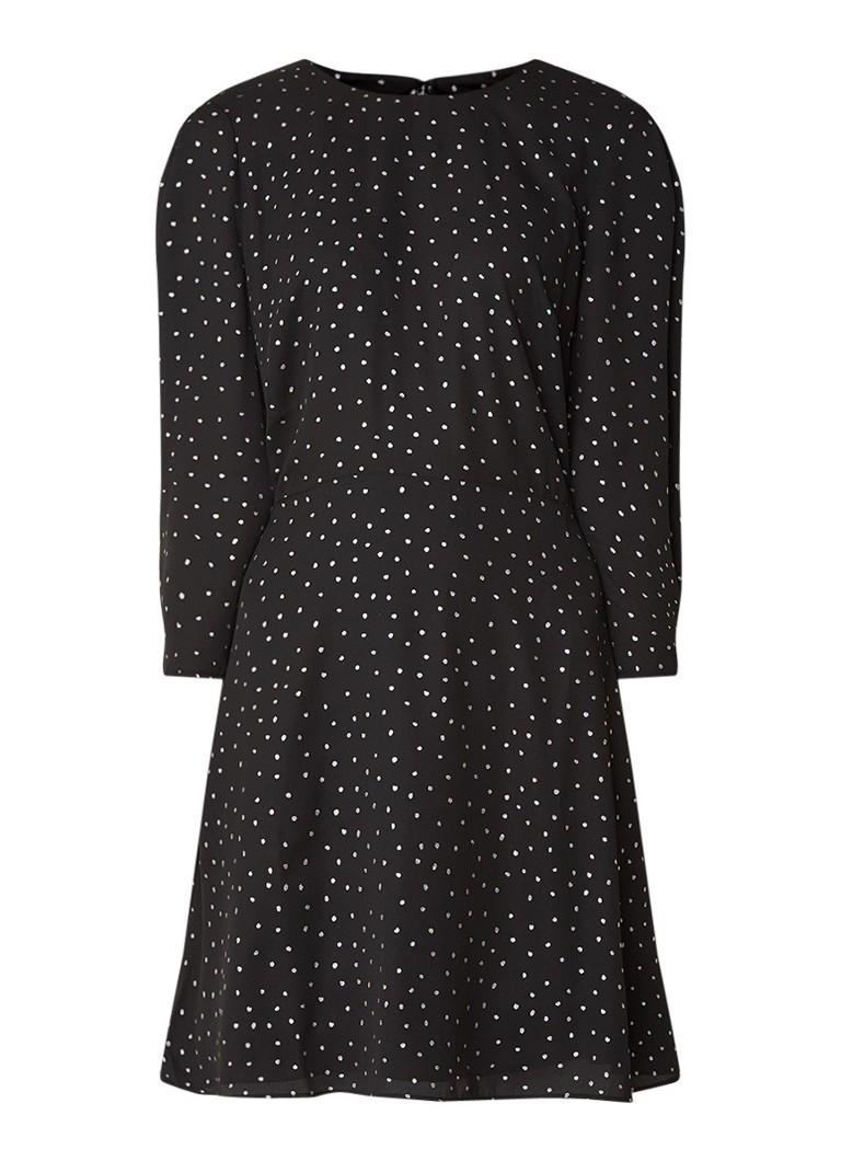 Warehouse Mini-jurk met stippendessin zwart
