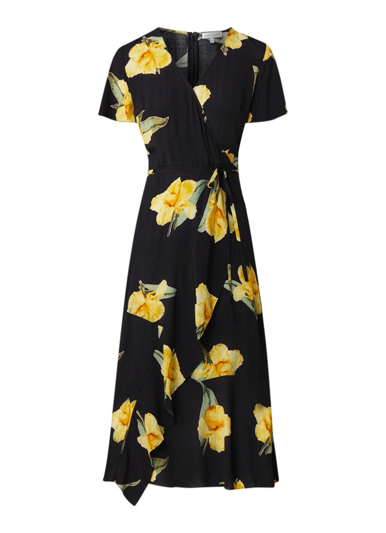 Warehouse Katy tuniekjurk met bloemendessin zwart