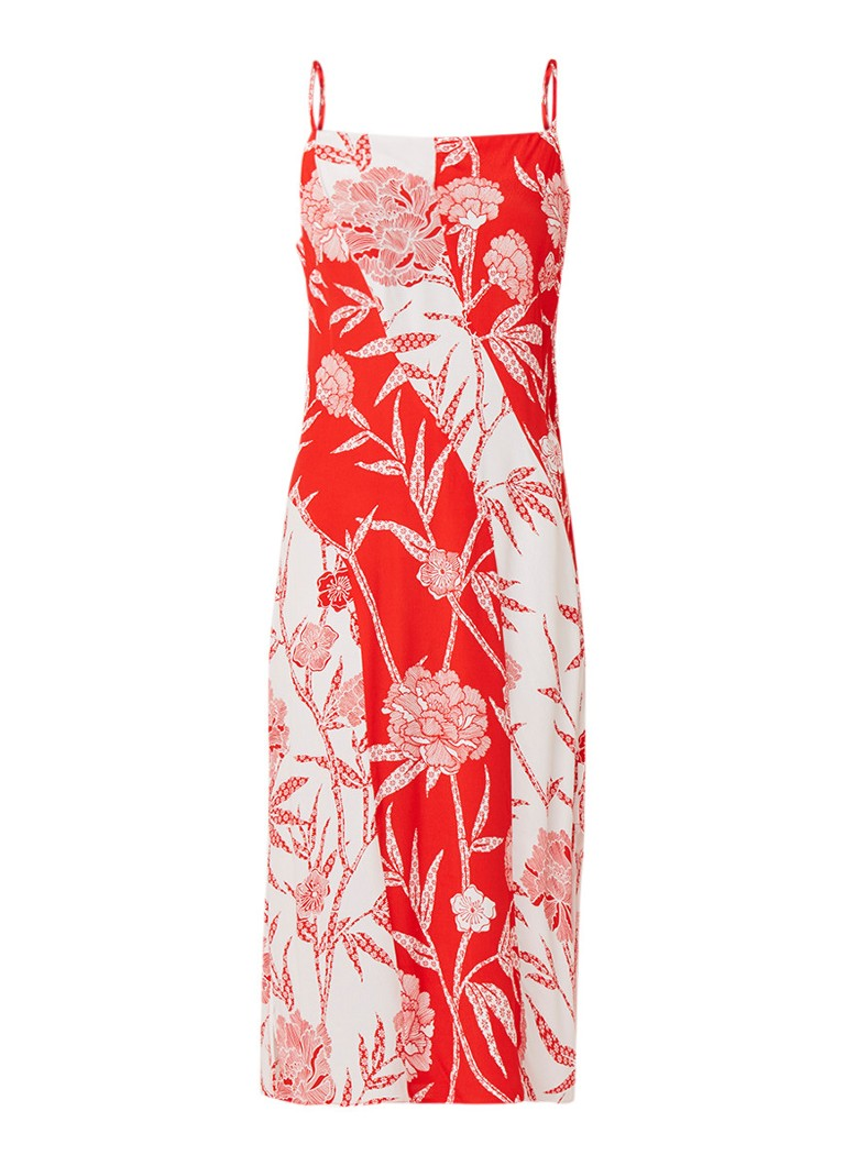 Warehouse Bamboozle cami jurk met bloemendessin rood