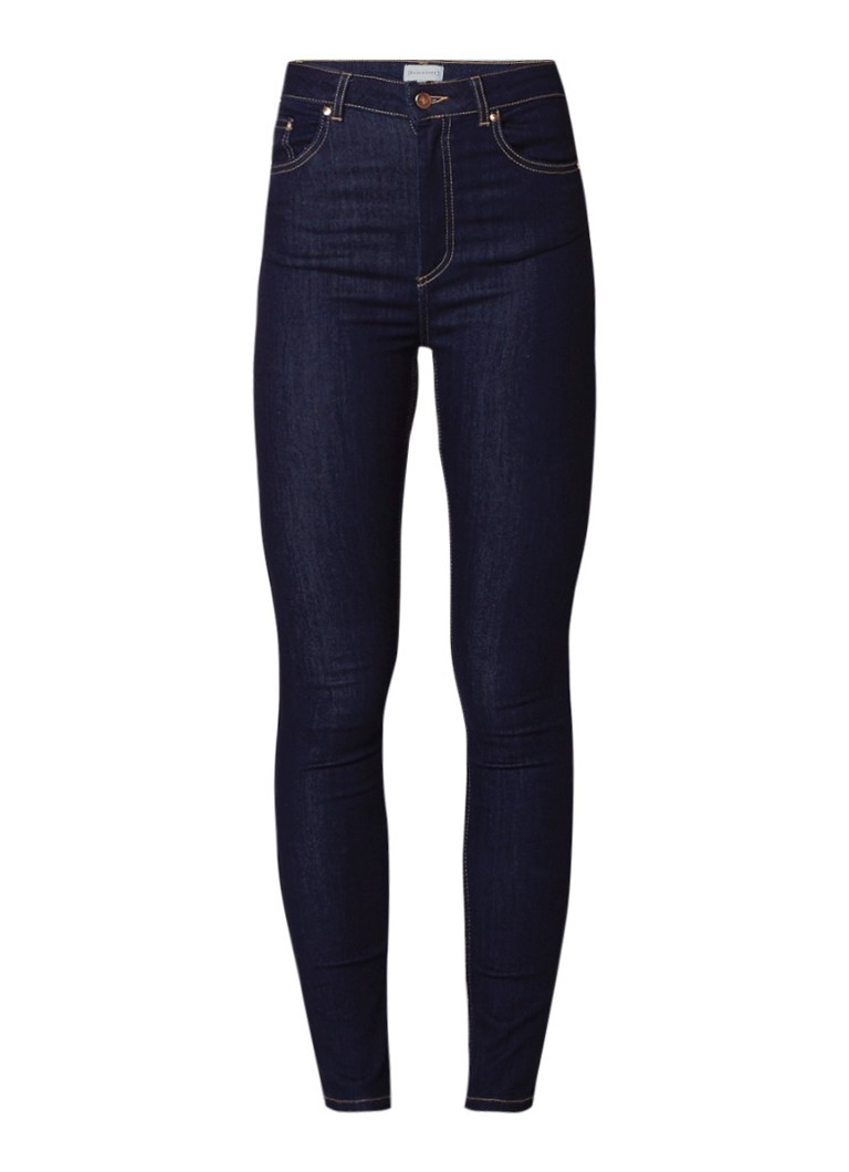 Warehouse High waist skinny fit jeans met donkere wassing