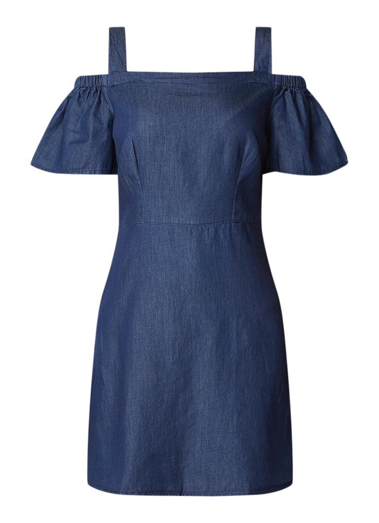 Warehouse Cold shoulder jurk van chambray