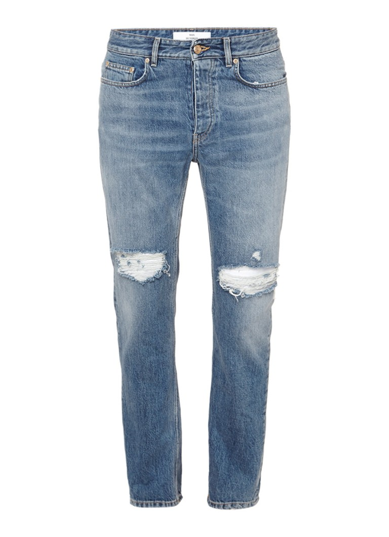 Won Hundred Jimmy straight fit jeans met destroyed look