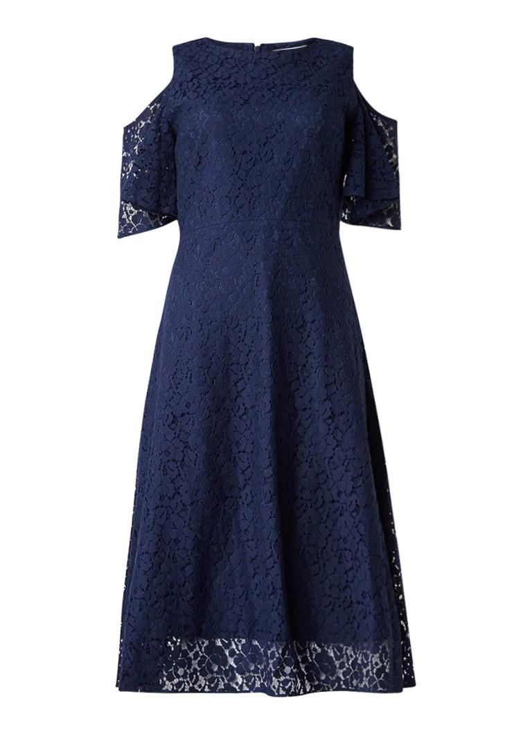 Warehouse Cold shoulder Alijn jurk