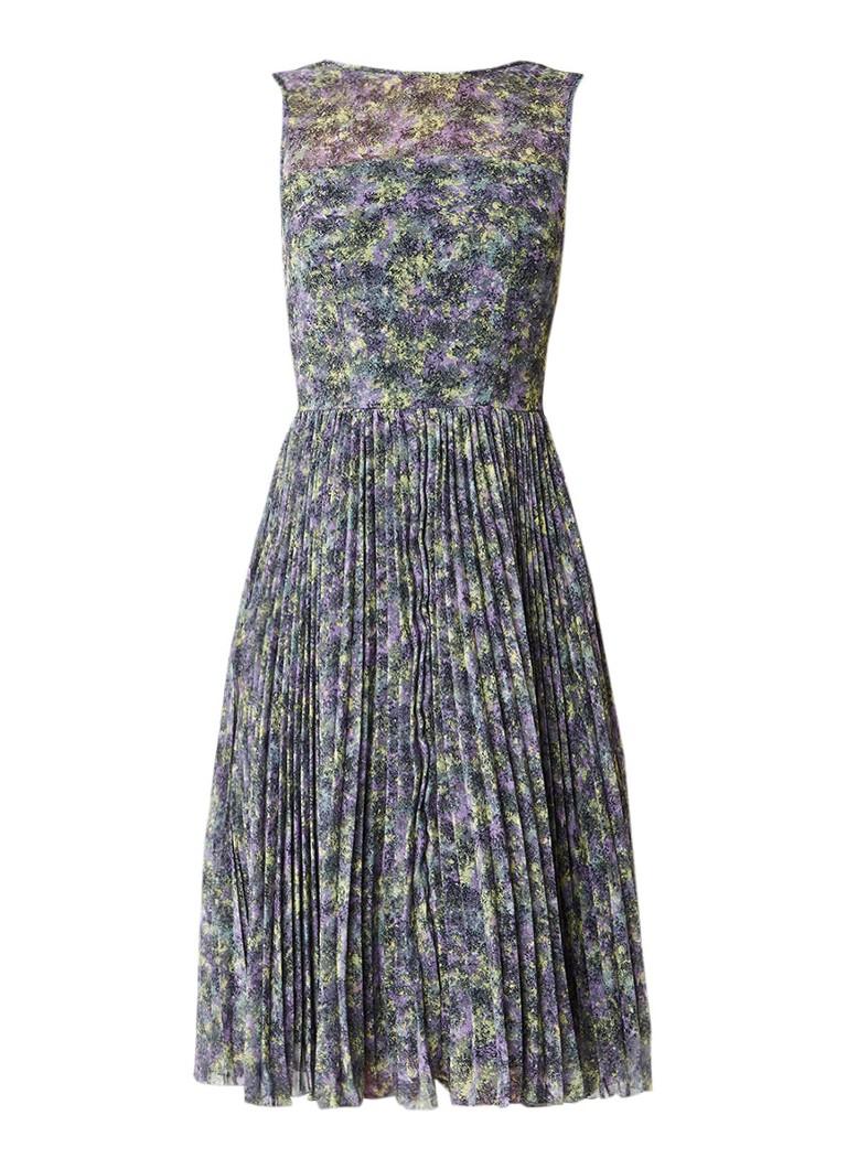 Warehouse Midi-jurk met plissé en cut-out details lavendel