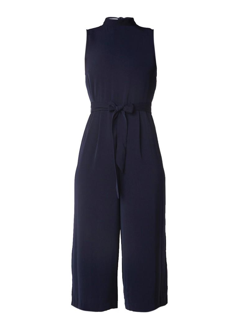 Warehouse Loose fit jumpsuit met strikdetail op achterpand