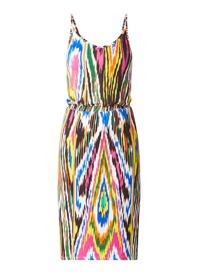 Warehouse Cami jurk met print en elastische tailleband multicolor
