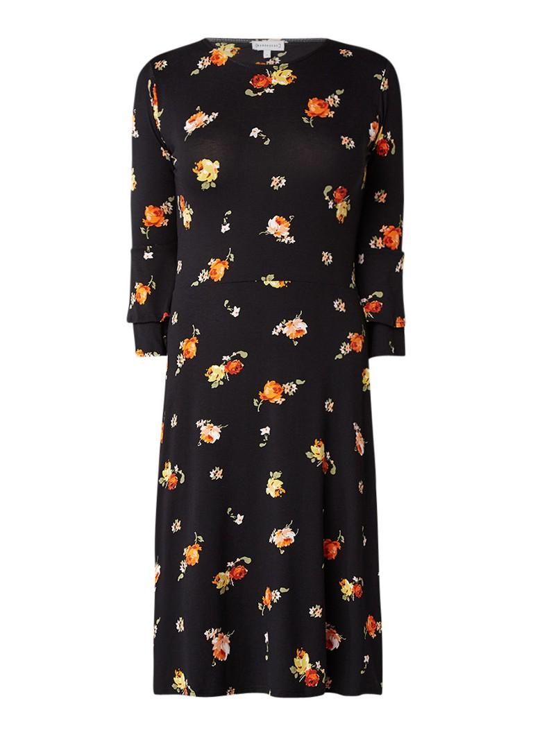 Warehouse Florence jurk van jersey met volantmouw zwart