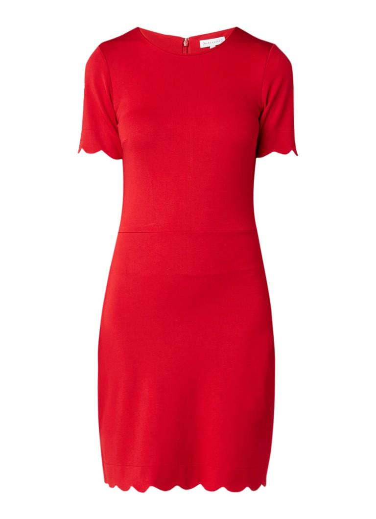 Warehouse Midi-jurk met geschulpte zoom diepzwart