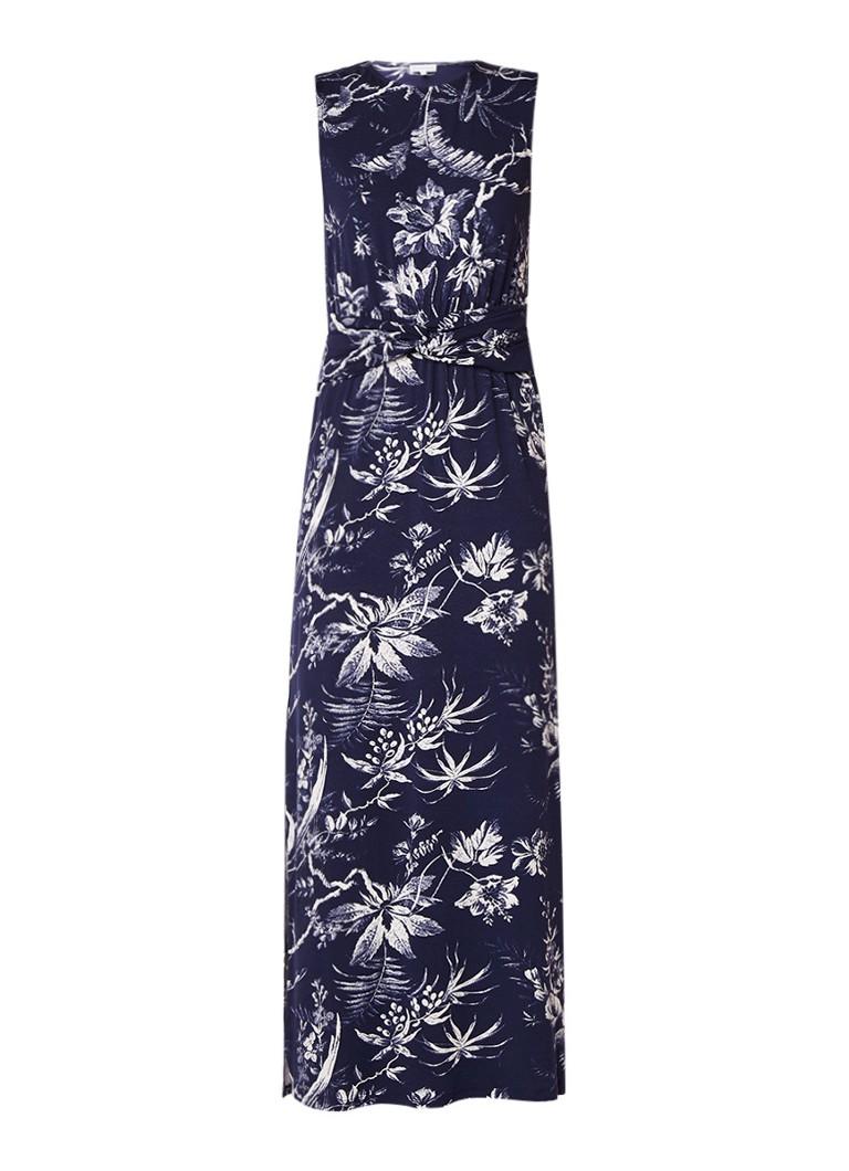 Warehouse Maxi-jurk met geknoopt detail en zijsplit donkerblauw