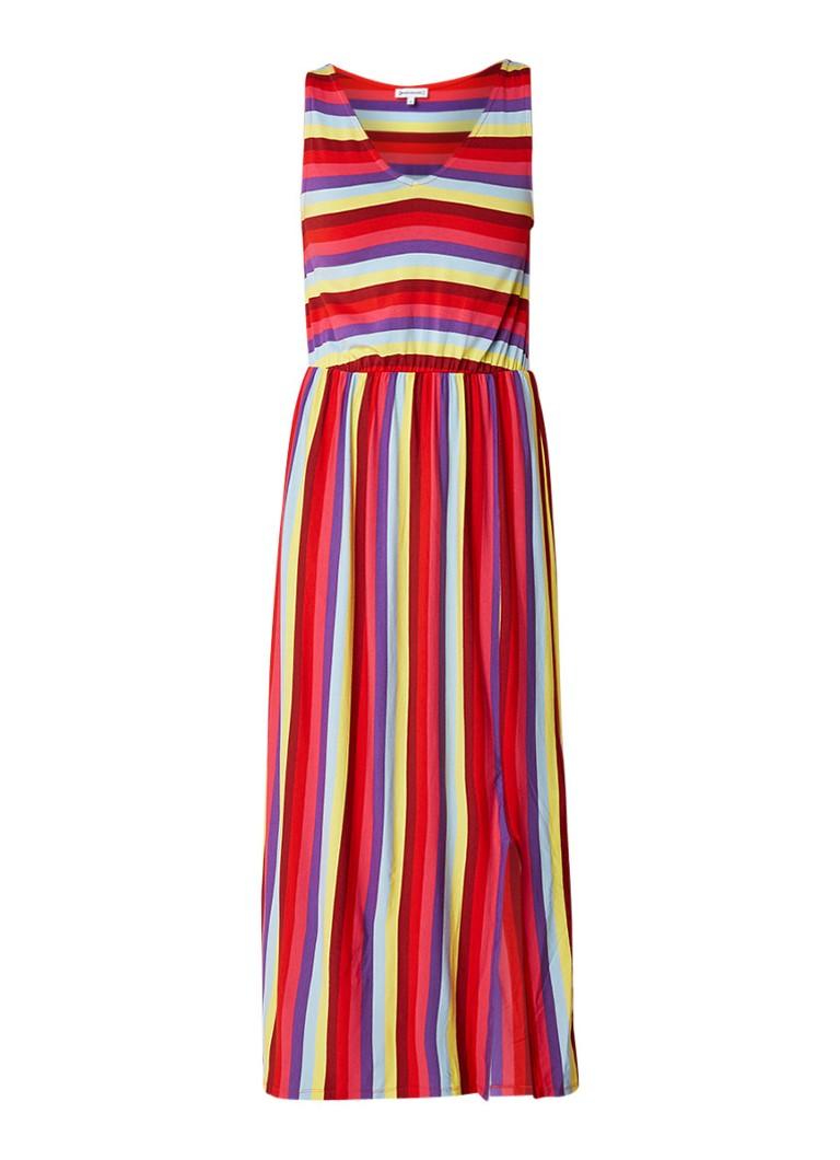 Warehouse Maxi-jurk met kleurrijk streepdessin multicolor